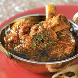 Lamb Shanks braised with onion and Garam Masala