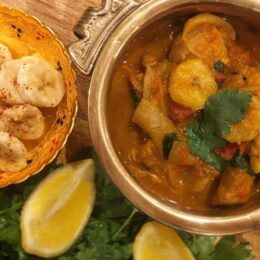 chicken and banana curry